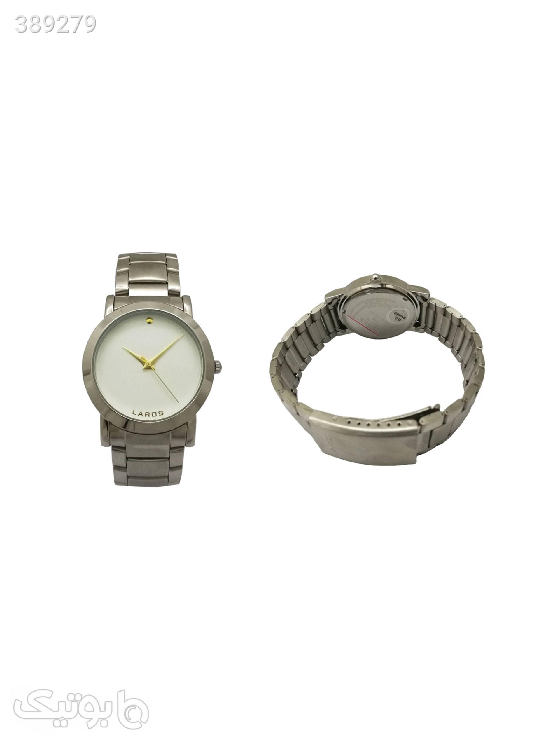 ساعت مچی عقربه ایلاروس مدل 1216-732147 نقره ای ساعت