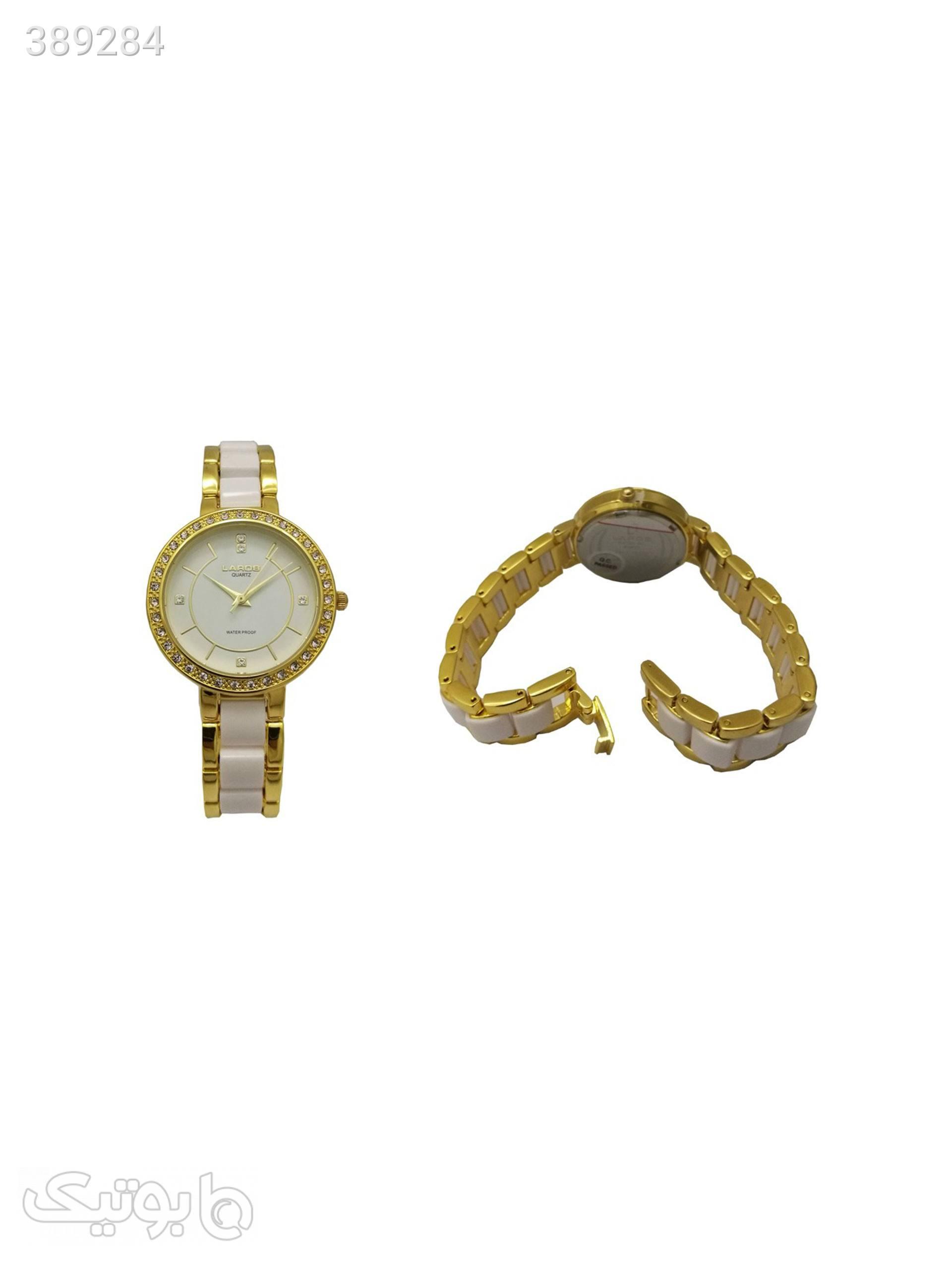 ساعت مچی عقربه ای زنانه لاروس مدل0517-79992 طلایی ساعت