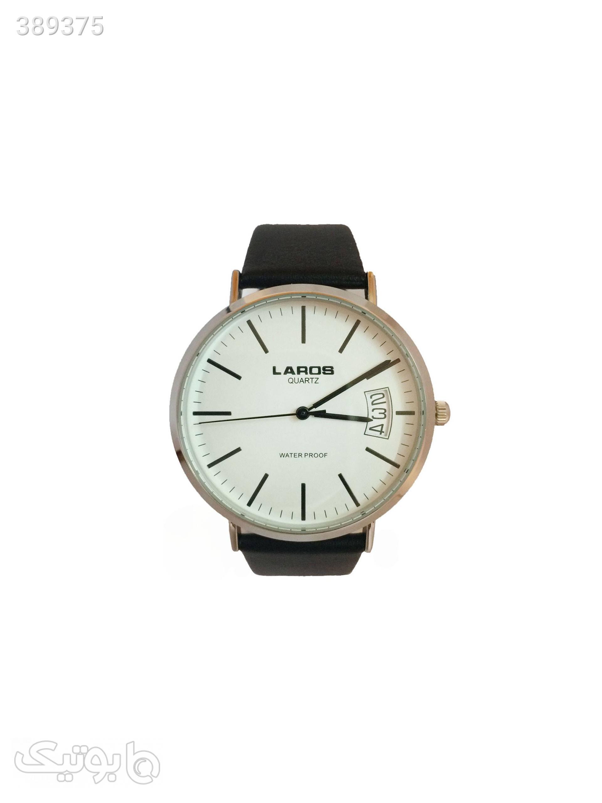 ساعت مچی عقربه ای لاروس مدل No 091780079SD مشکی ساعت