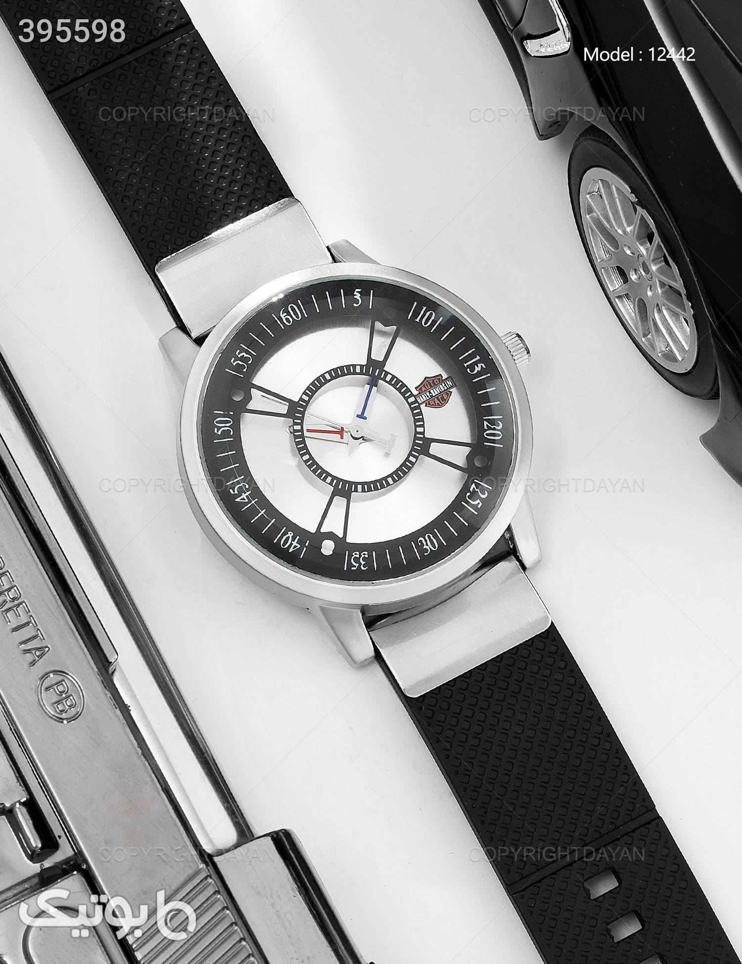 ساعت مچی مردانه Araz مدل 12442 مشکی ساعت