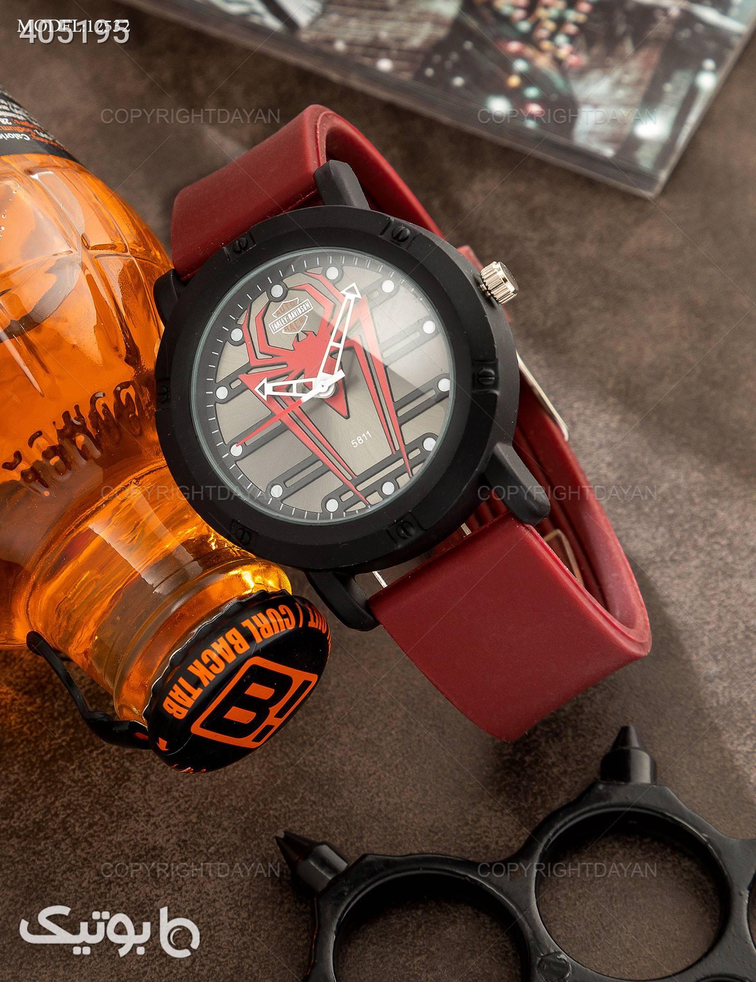 ساعت مچی مردانه Araz مدل 12532 زرشکی ساعت