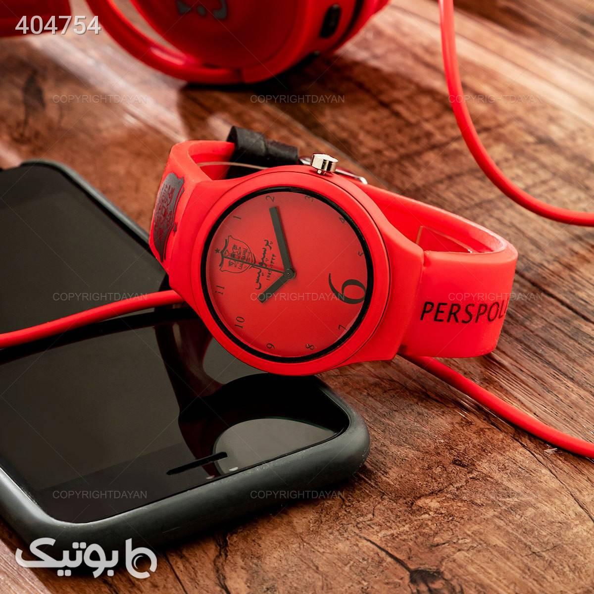 ساعت مچی پرسپولیس قرمز ساعت