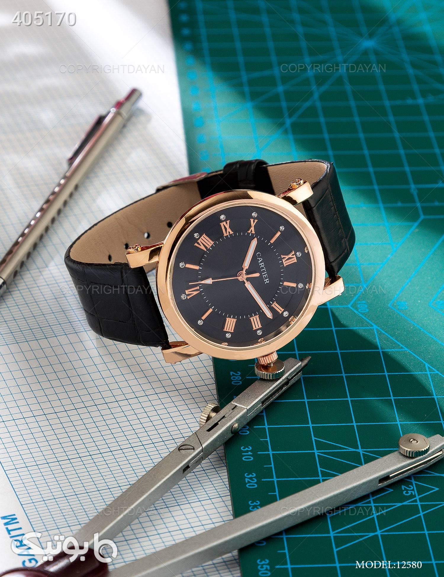 ساعت مچی Cartier مدل 12580 مشکی ساعت