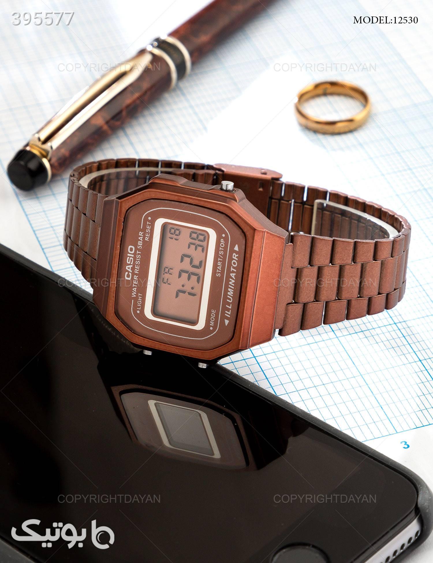 ساعت مچی Casio  مدل 12530 قهوه ای ساعت