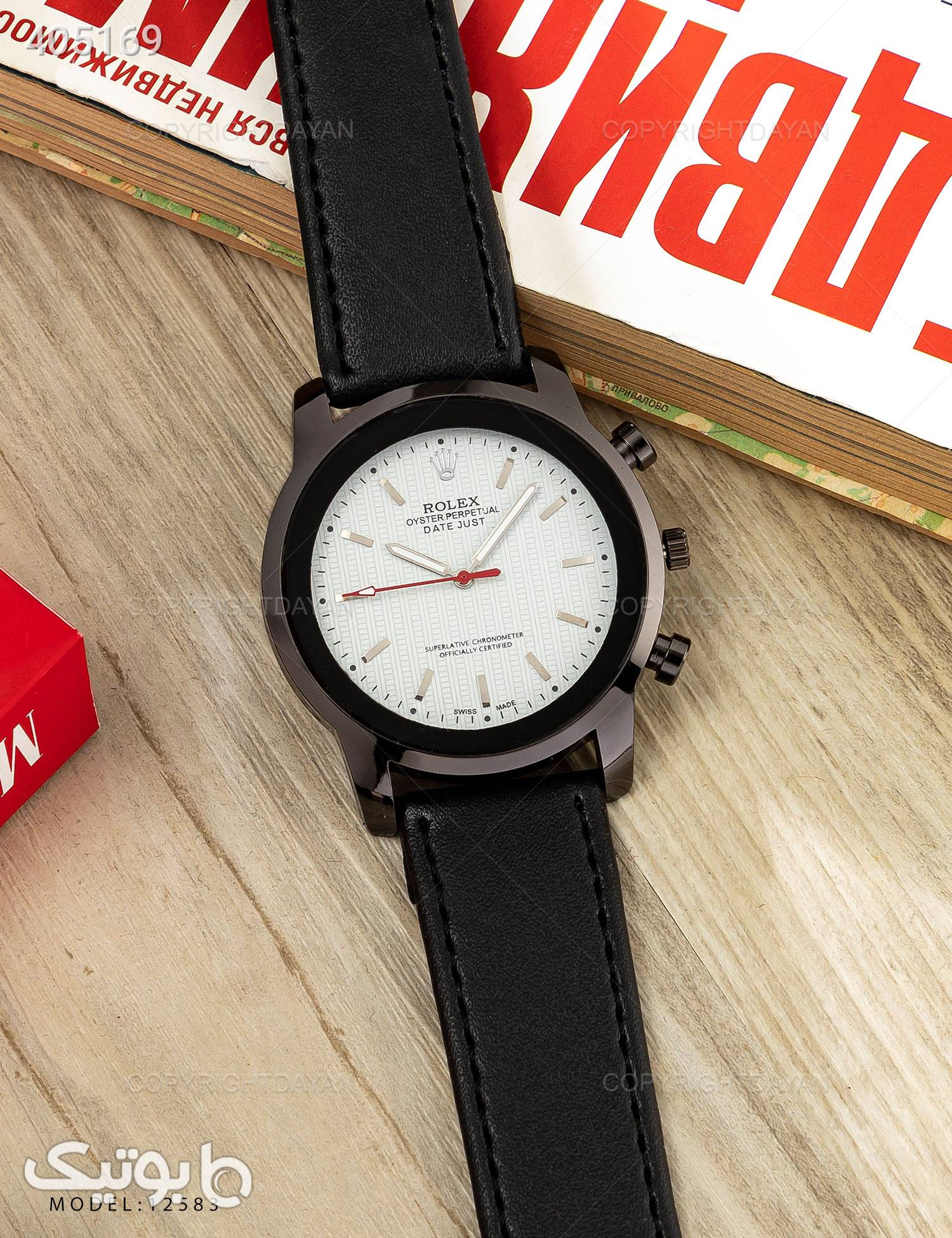 ساعت مچی Rolex مدل  12583 مشکی ساعت