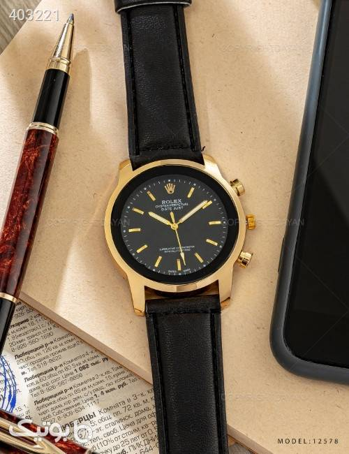ساعت مچی Rolex مدل 12578 زرد ساعت