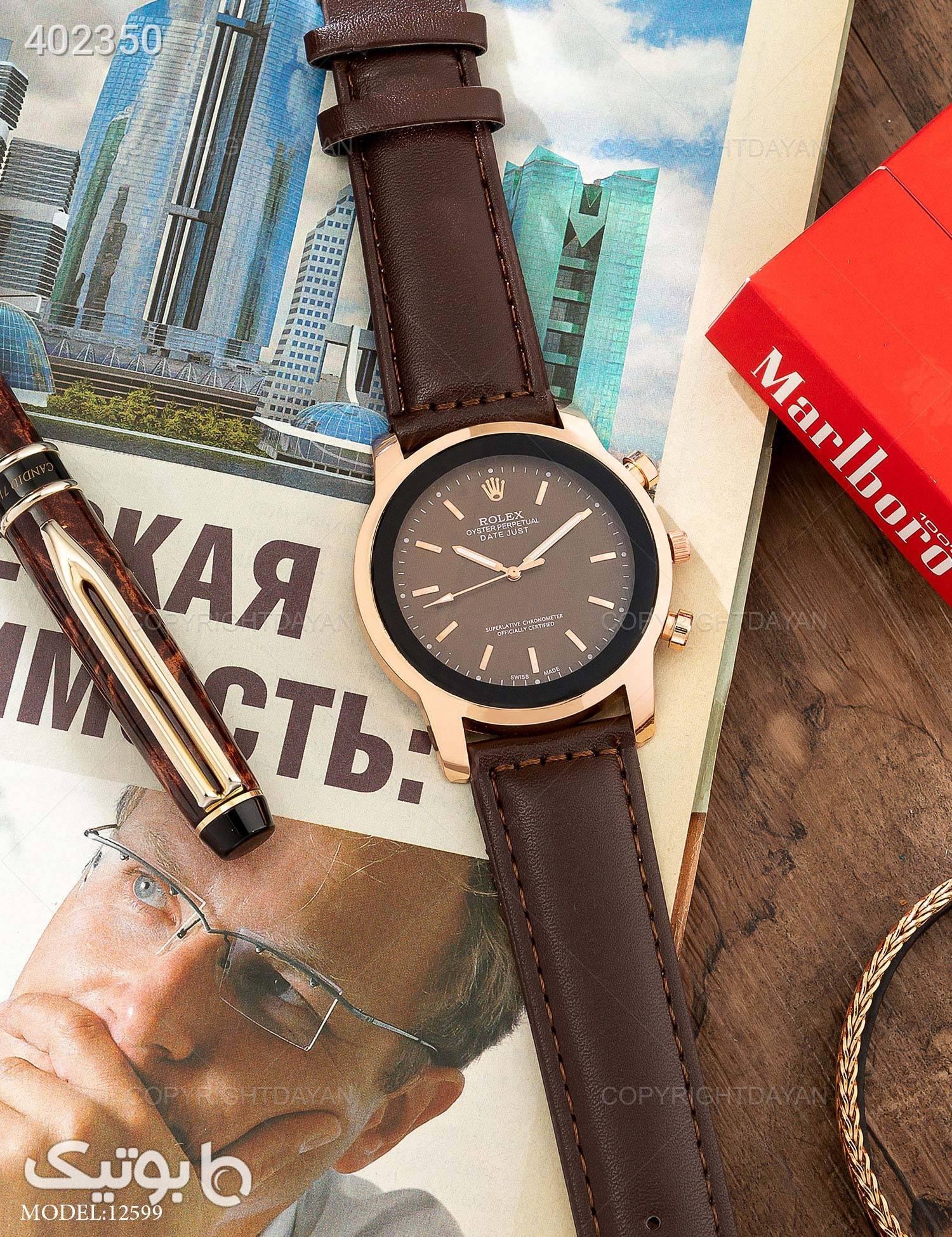 ساعت مچی Rolex مدل 12599 قهوه ای ساعت