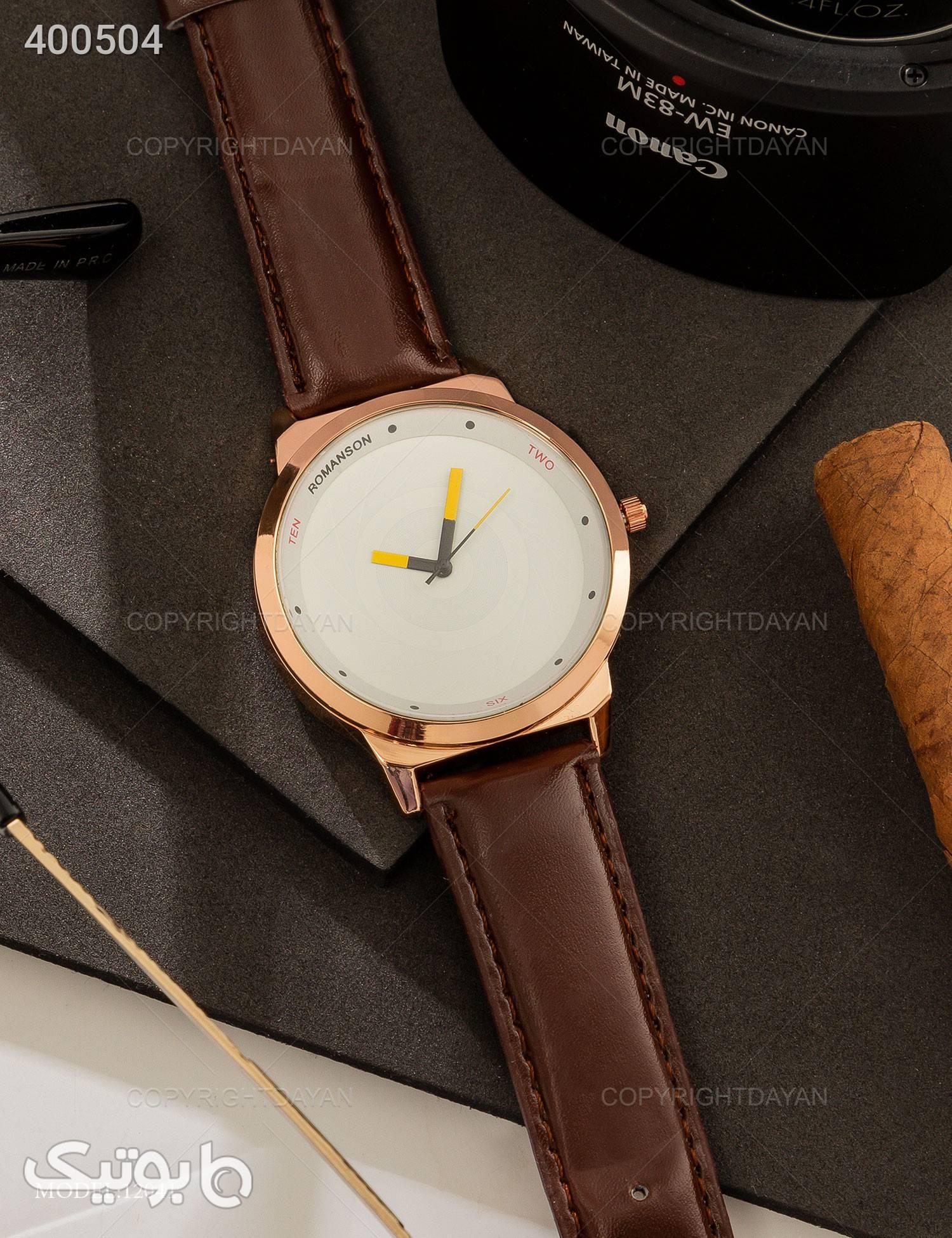 ساعت مچی Romanson مدل 12041 قهوه ای ساعت