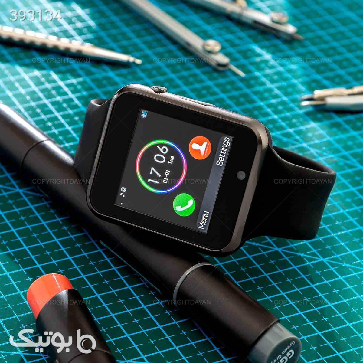 ساعت هوشمند لمسی مشکی ساعت