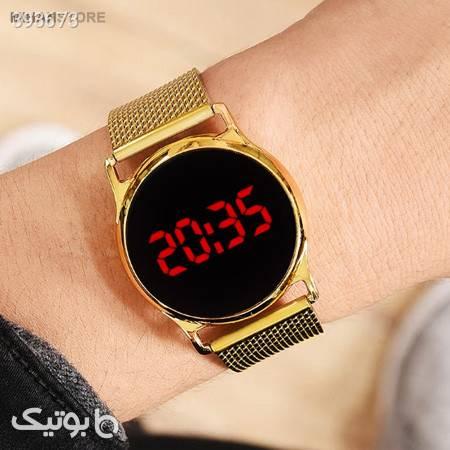 ساعت LED صفحه لمسی طرح Swarovski زرد ساعت