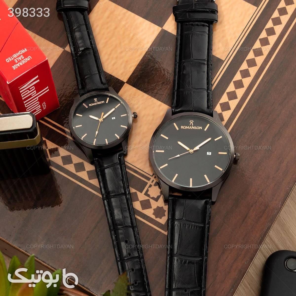 ست ساعت مردانه و زنانه رمانسون مشکی ساعت