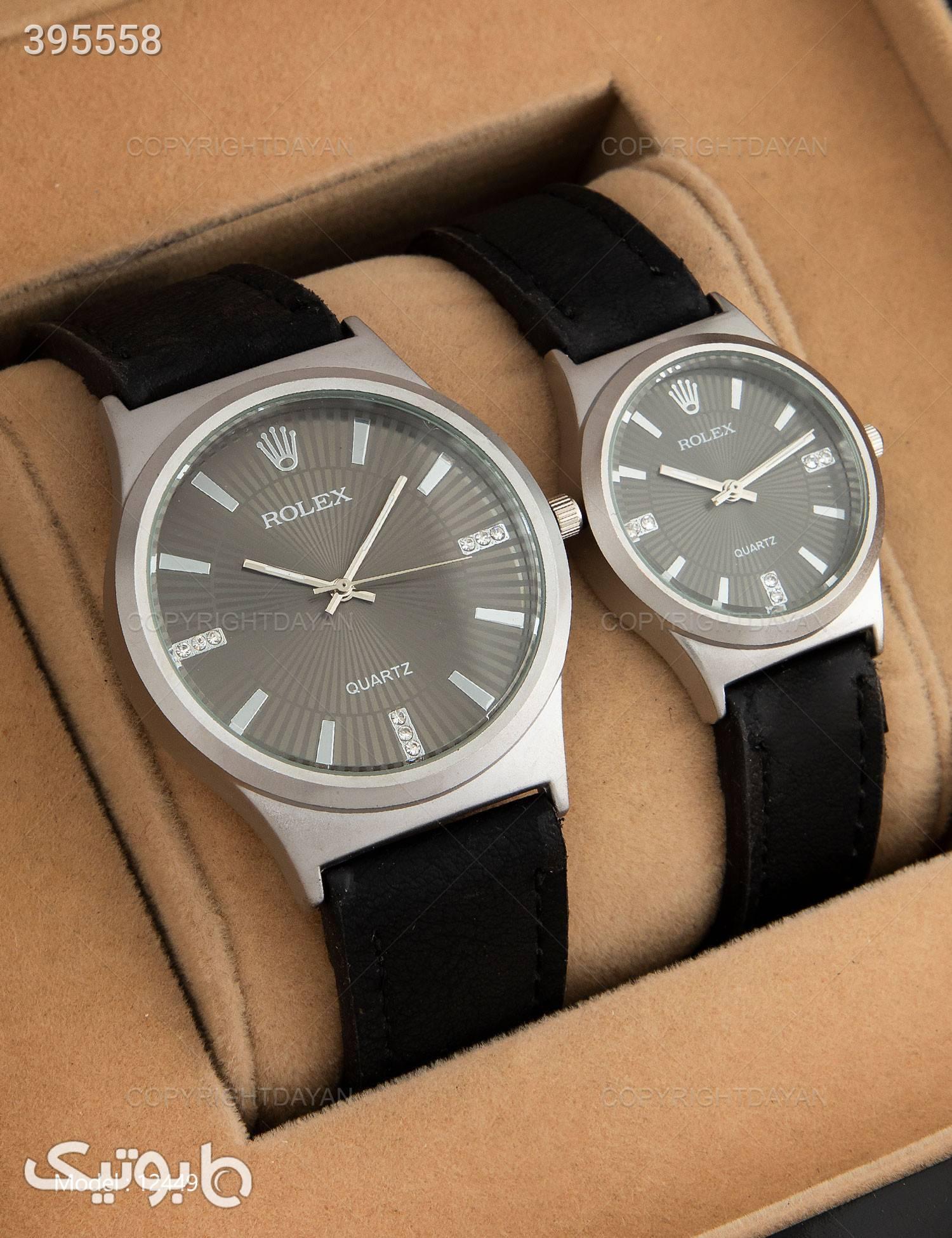 ست ساعت مچی Rolex  مدل 12449 مشکی ساعت
