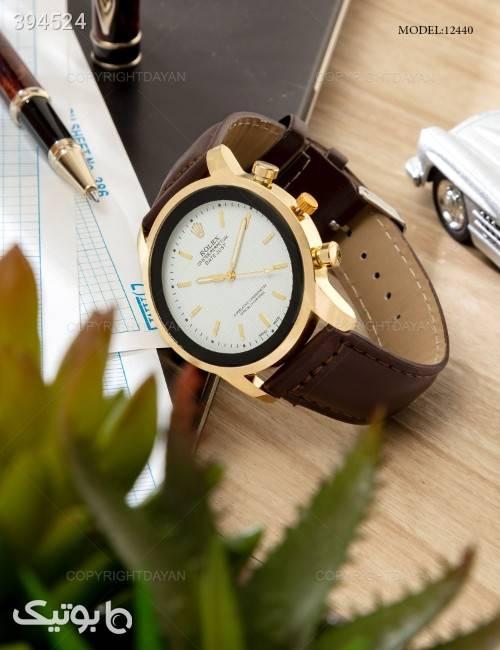 ساعت مچی مردانه Rolex مدل 12440  قهوه ای ساعت