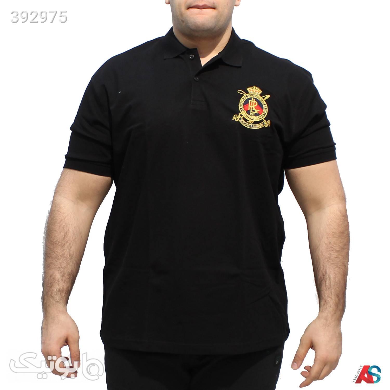 تیشرت سایز بزرگ کدمحصول TNG3215 مشکی سایز بزرگ مردانه