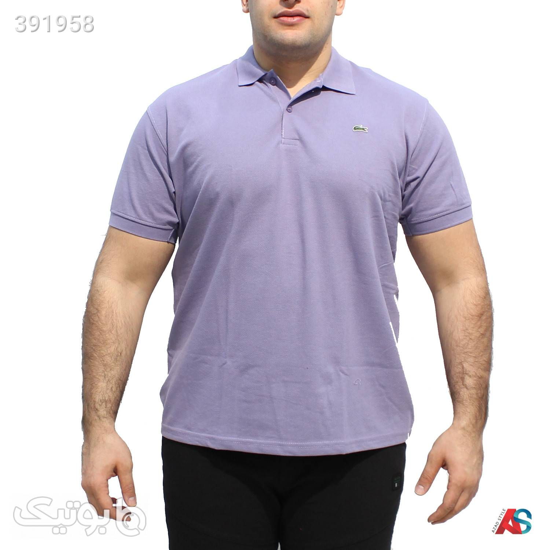 تیشرت سایز بزرگ کد محصول LAG017 بنفش سایز بزرگ مردانه