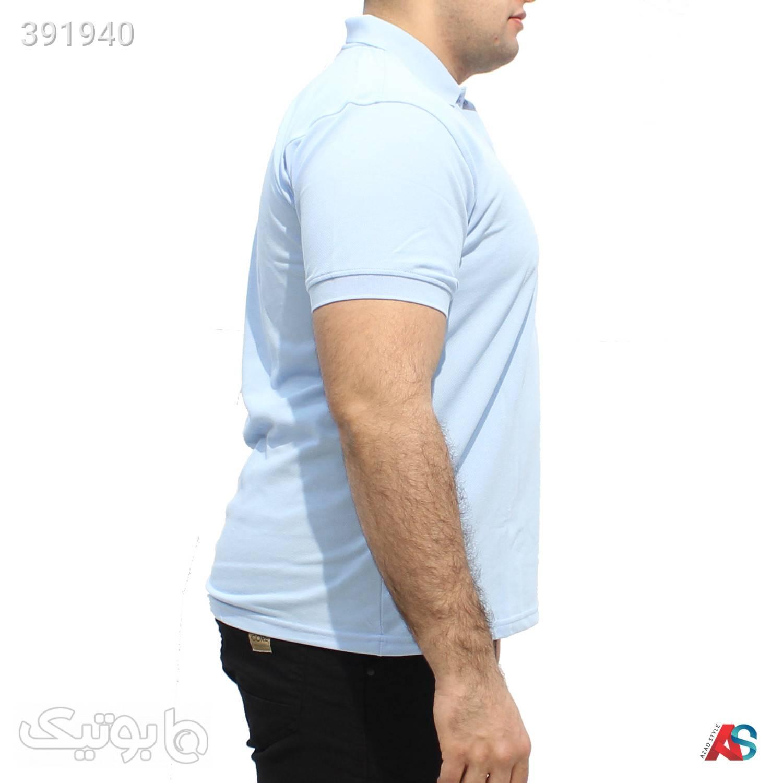 تیشرت سایز بزرگ کد محصول LAG021 آبی سایز بزرگ مردانه