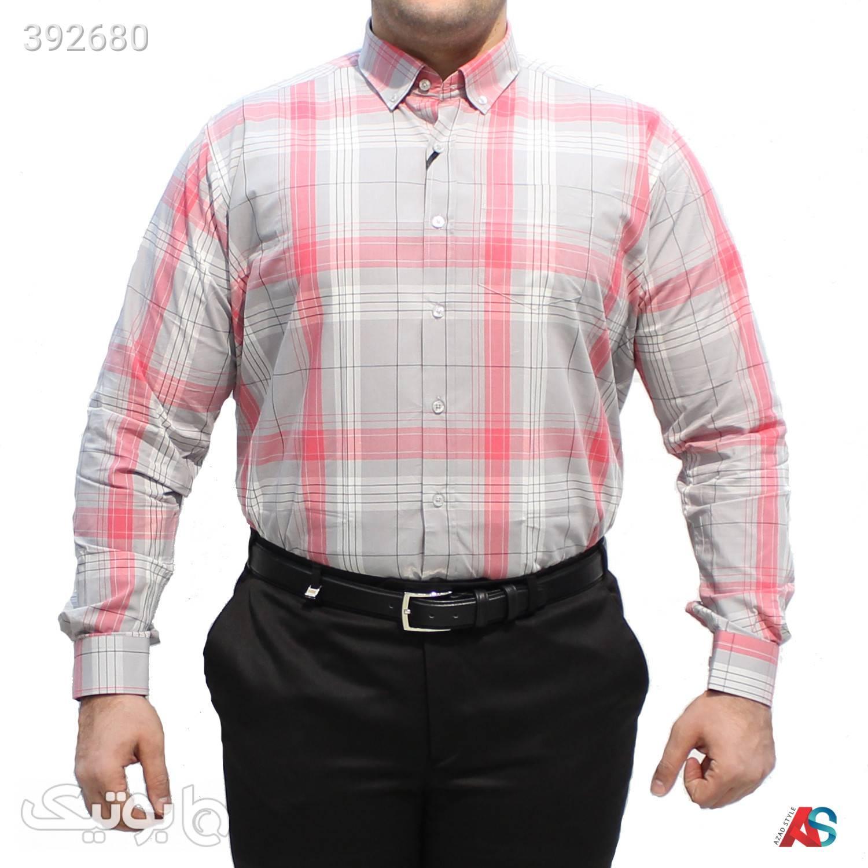 پیراهن سایز بزرگ کدمحصول DEB104 صورتی سایز بزرگ مردانه