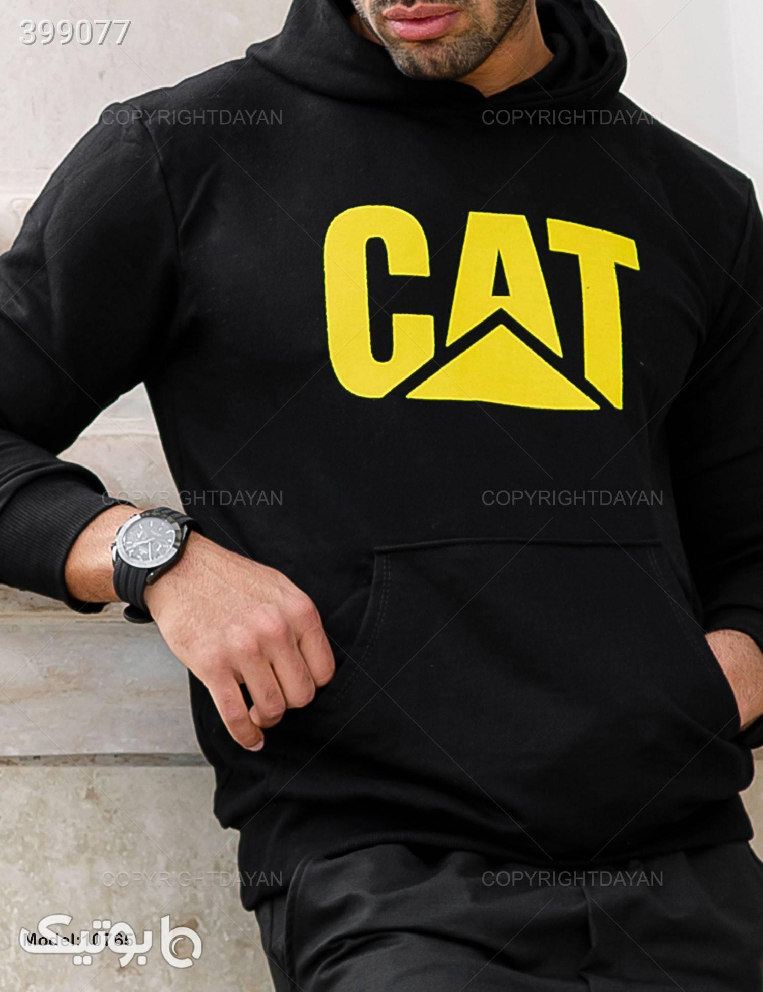ست مردانه Cat مدل 10765  مشکی ست ورزشی مردانه