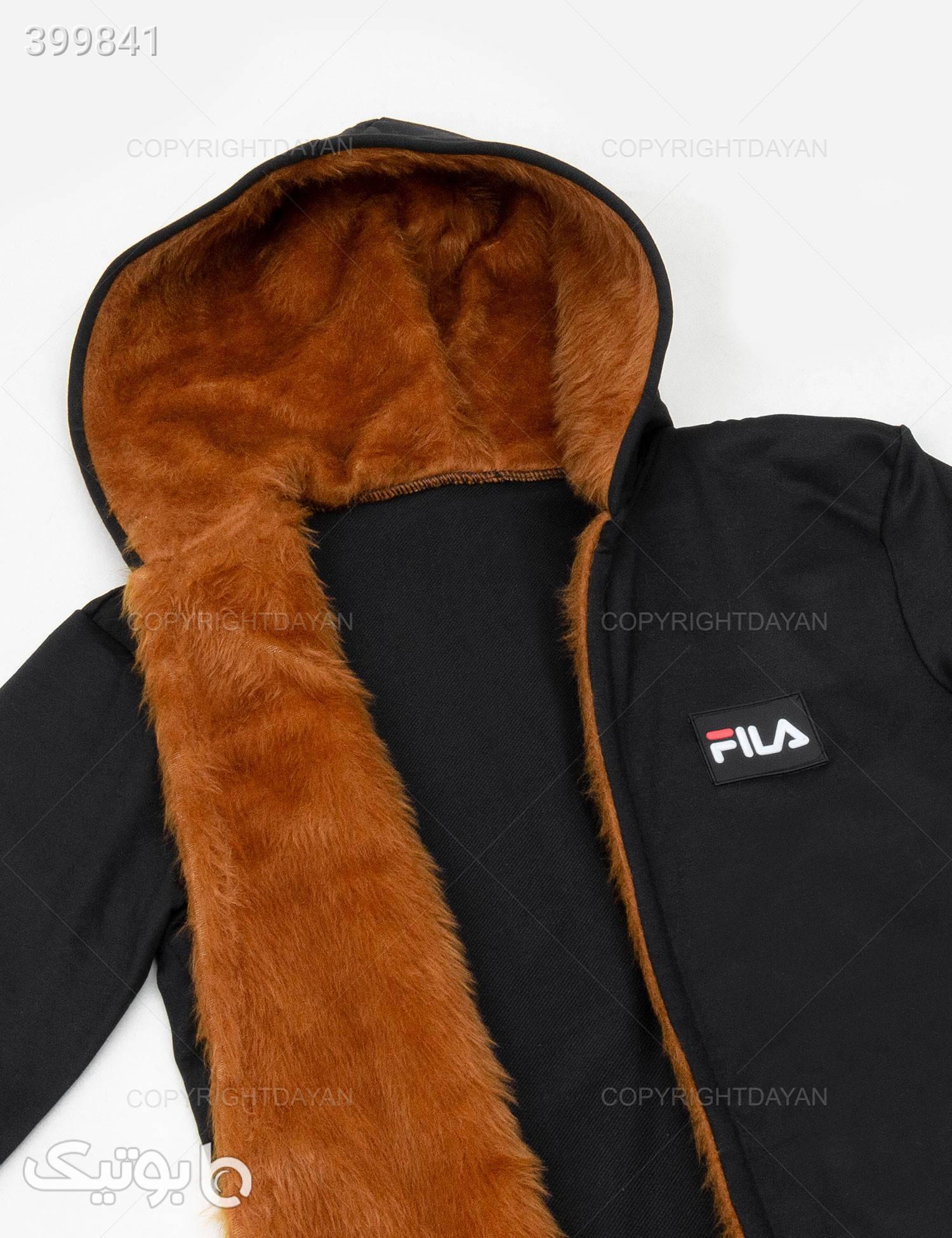 شنل خزدار Fila مدل 10997 مشکی سوئیشرت و هودی مردانه