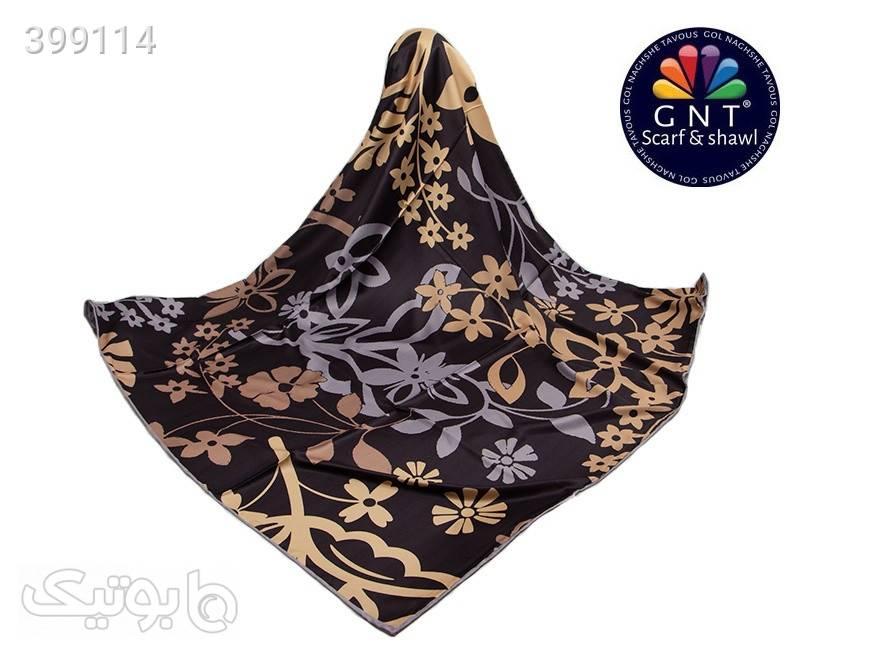 روسری ابریشمی زنانه جی ان تی GNT مشکی شال و روسری