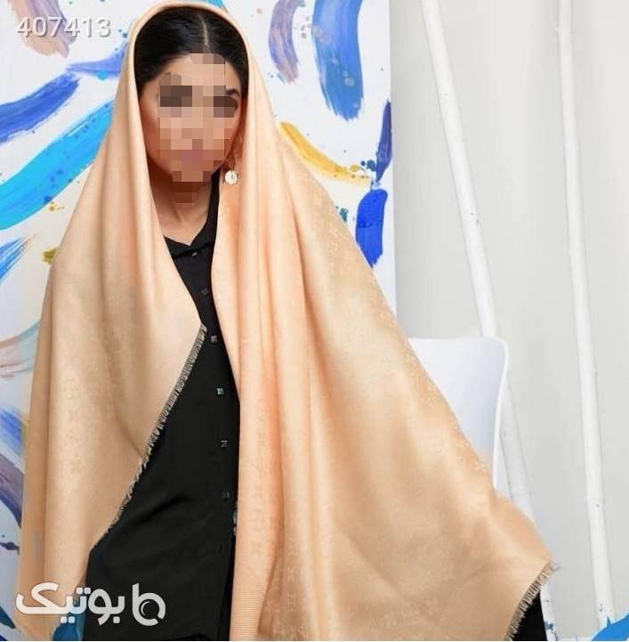 روسری نخ کجراه سایز140  کرم شال و روسری