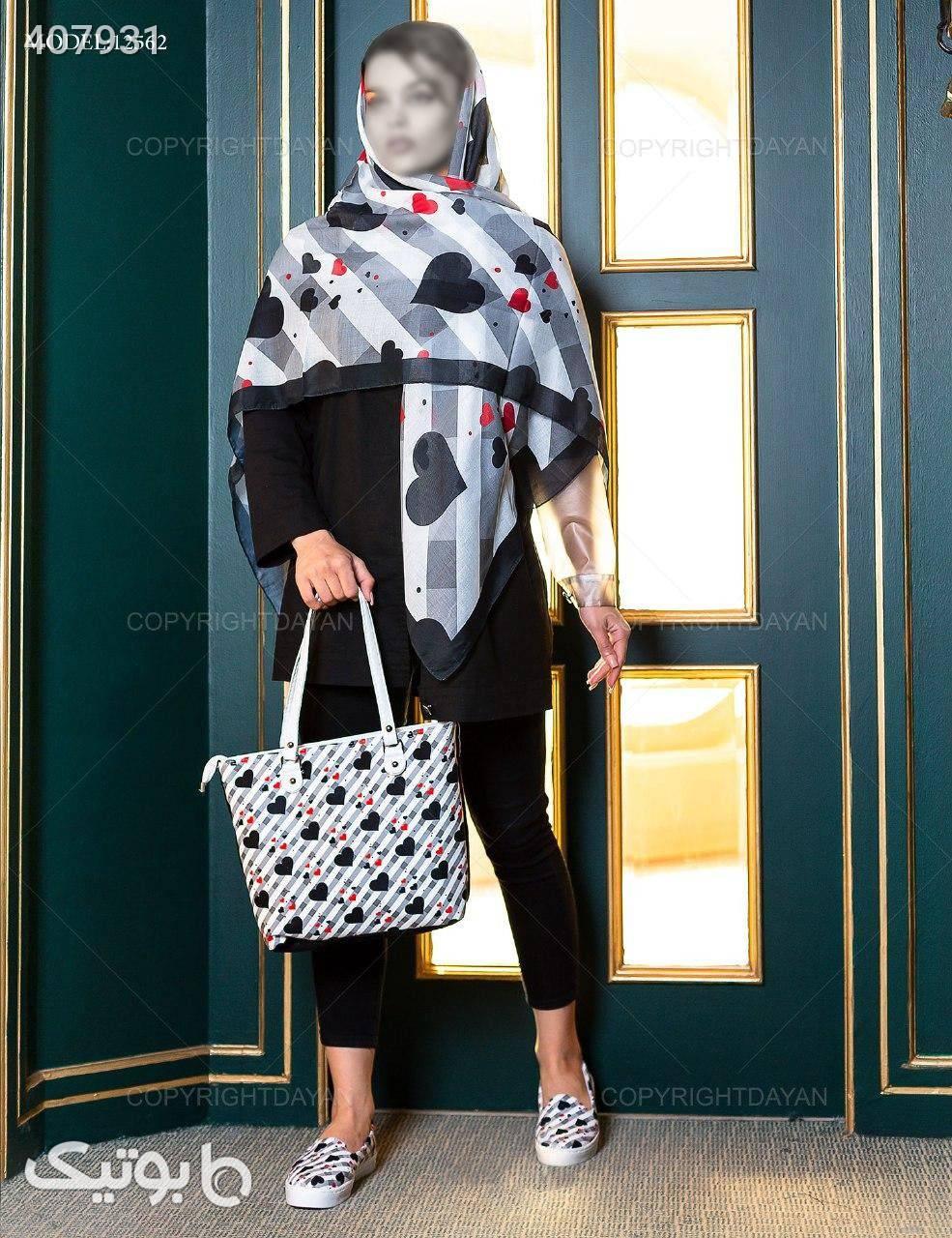 ست سه تیکه زنانه Selin مدل 12562  مشکی شال و روسری