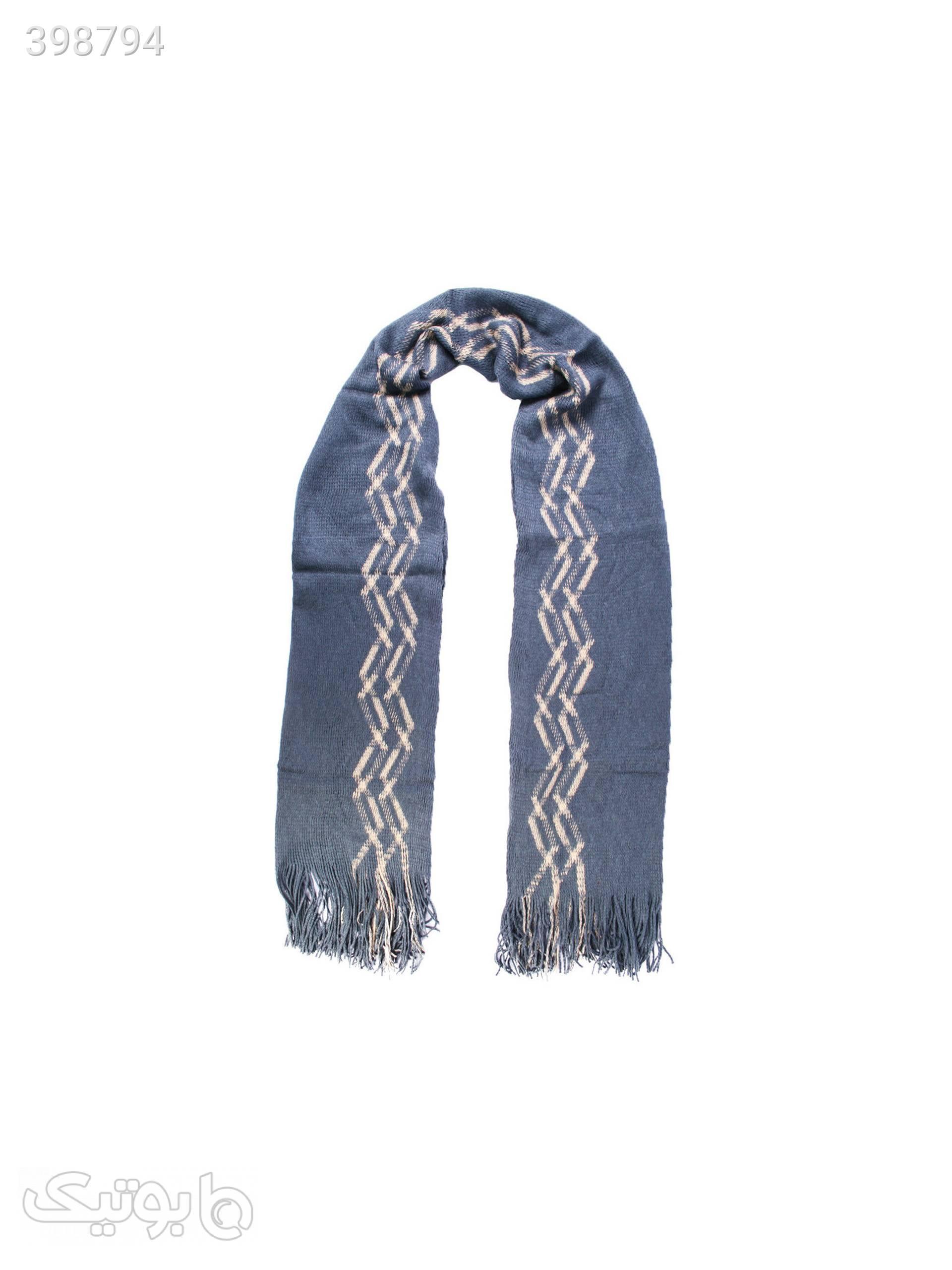 شال بافت زنانه LNZ-SCRF-01 آبی شال و روسری