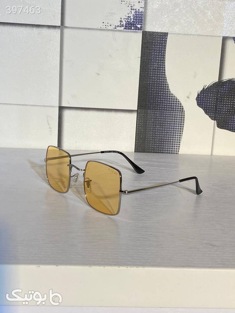 عینک آفتابی گوچی زرد عینک آفتابی