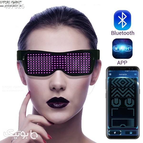 عینک هوشمند LED بلوتوثی Magic SL-004 سبز عینک آفتابی