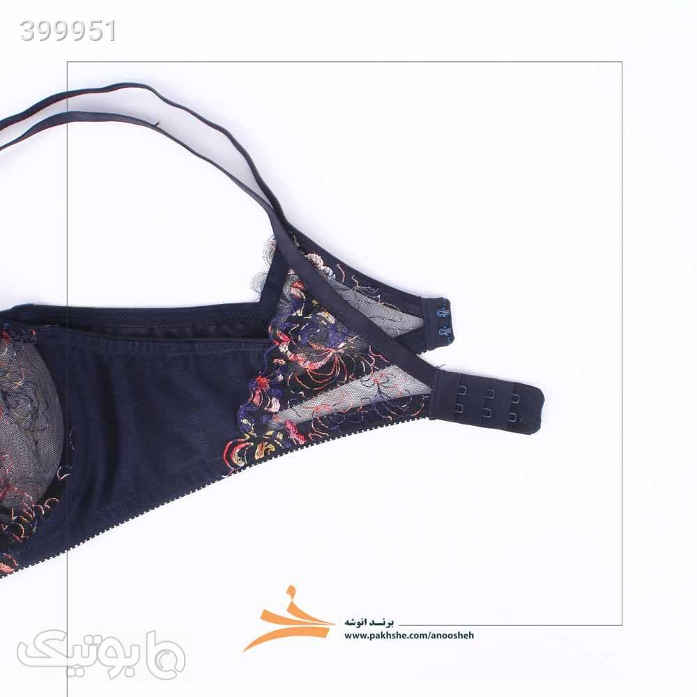 ست لباس زیر دو شورته انوشه کد 409 05 سورمه ای لباس زیر زنانه