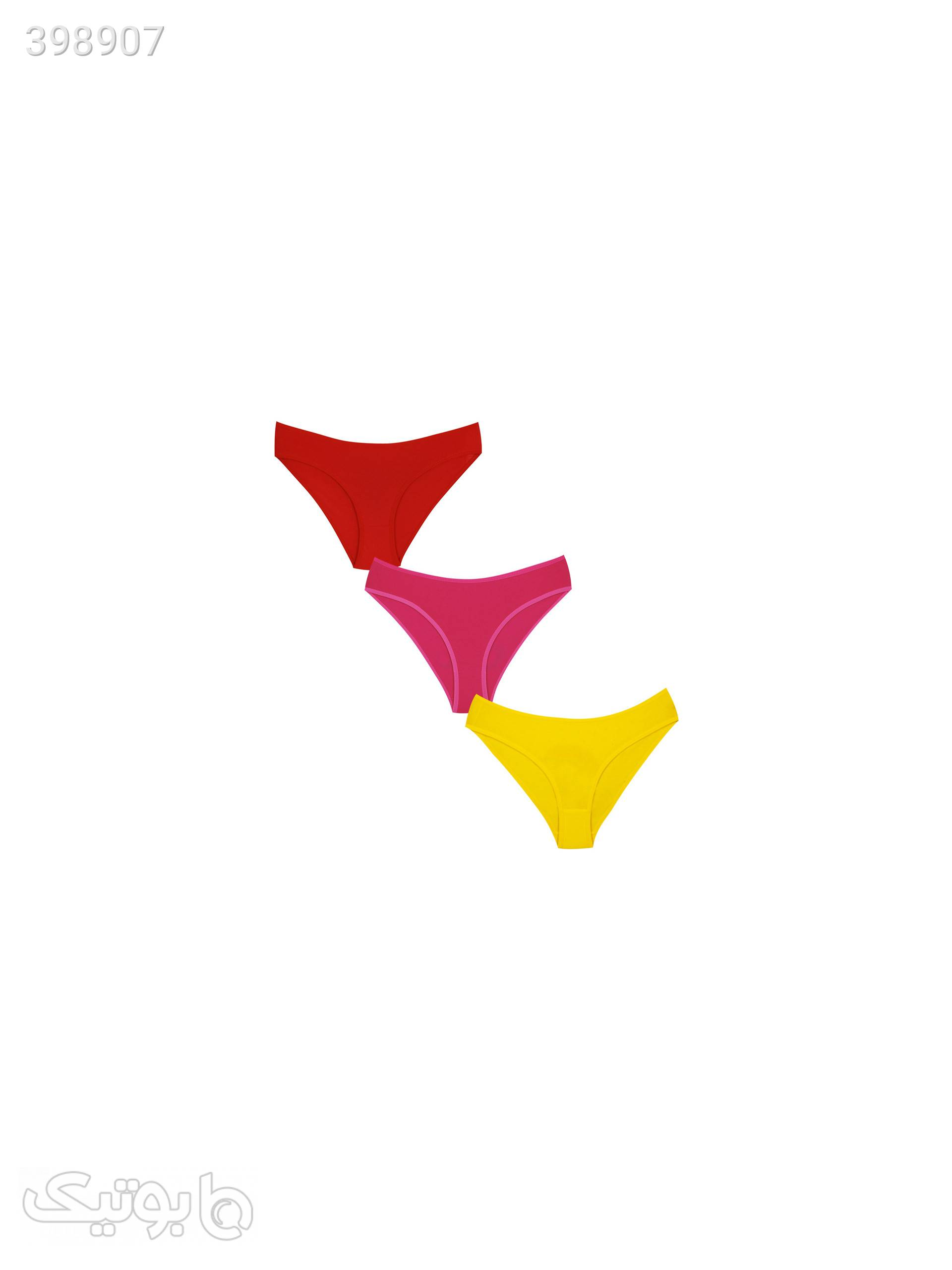 شورت زنانه مدل یلدا کد rty3215 مجموعه 3 عددی قرمز لباس زیر زنانه