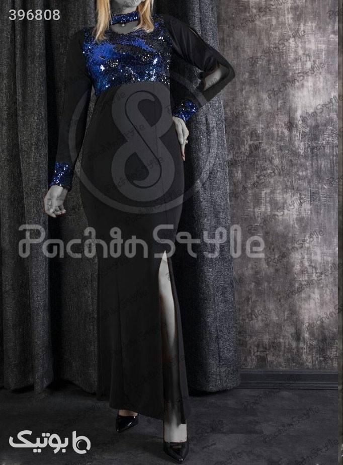 ماکسی روناک آبی لباس  مجلسی