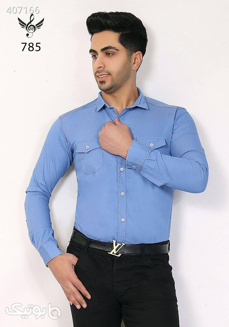 ملودی پیراهن  آبی پيراهن مردانه
