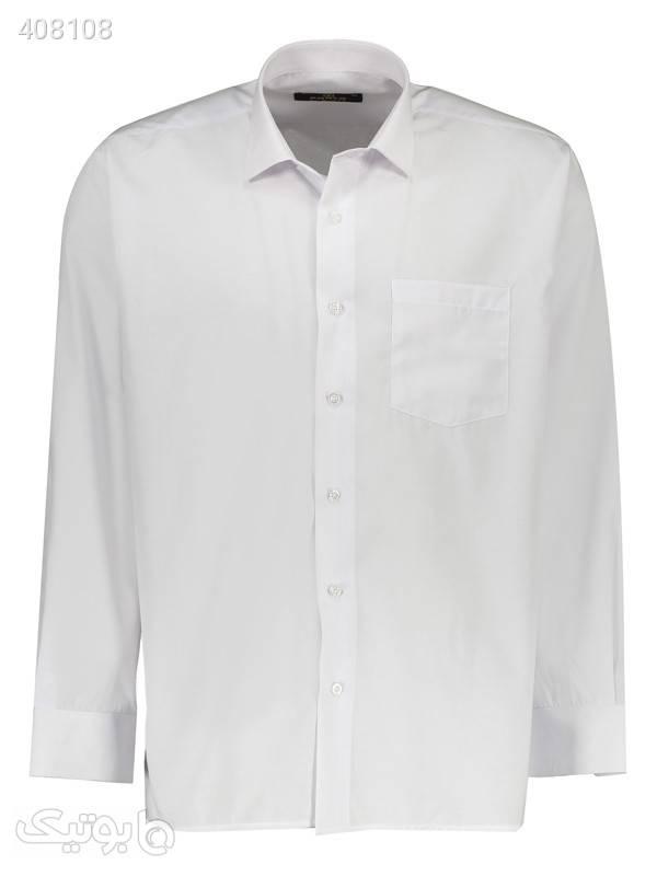 پیراهن مردانه کارلو کد 01 سفید پيراهن مردانه