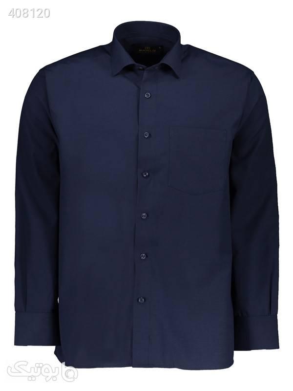 پیراهن مردانه کارلو کد 35 سورمه ای پيراهن مردانه