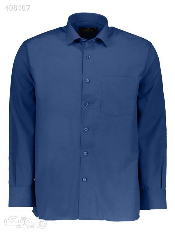 پیراهن مردانه کارلو کد 46 آبی پيراهن مردانه
