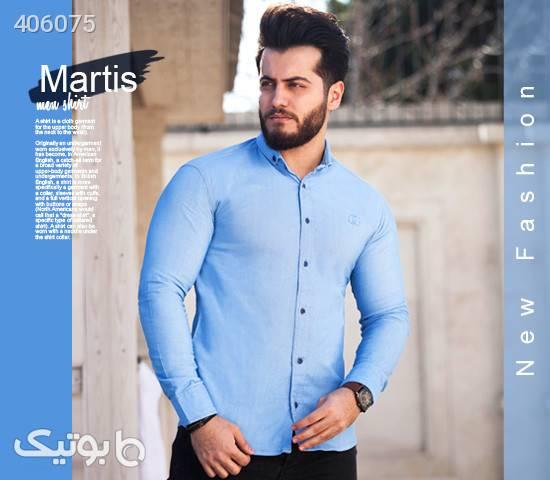 خرید ارازن قمیت پیراهن مردانه آبی روشن 2020