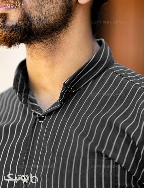 پیراهن مردانه Imaz مدل 10629 مشکی پيراهن مردانه