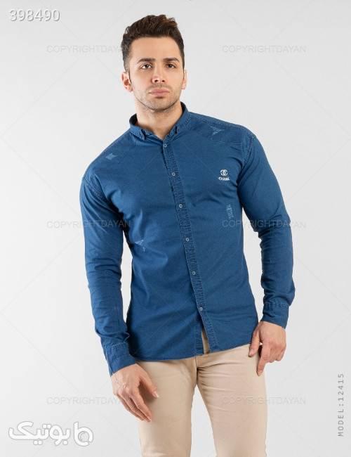 پیراهن مردانه Chanel مدل 12415  آبی پيراهن مردانه