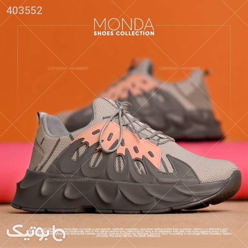 كفش دخترانه مدل MONDA صورتی كتانی زنانه
