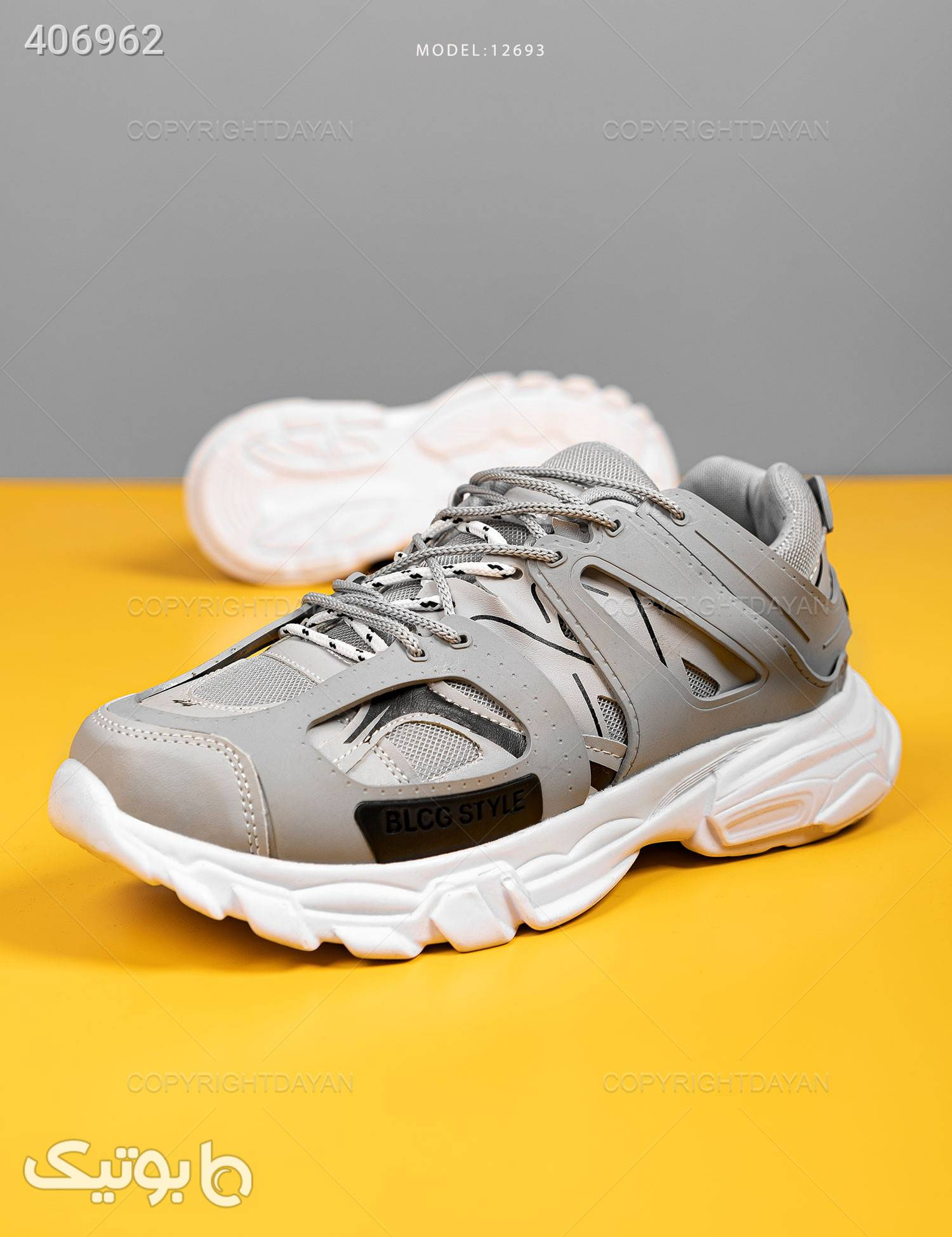 کفش مردانه Balenciaga مدل 12693 طوسی كتانی مردانه