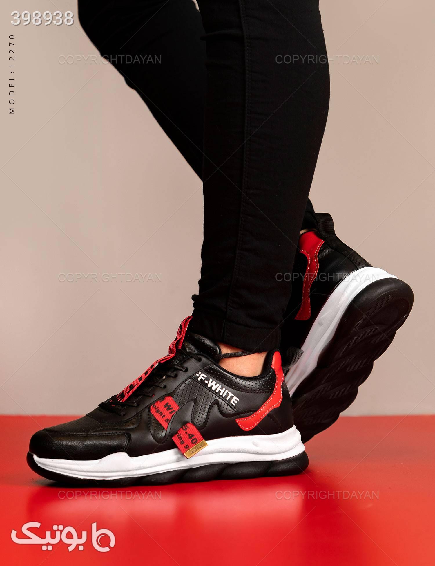 کفش مردانه Off-White مدل 12270 قرمز كتانی مردانه