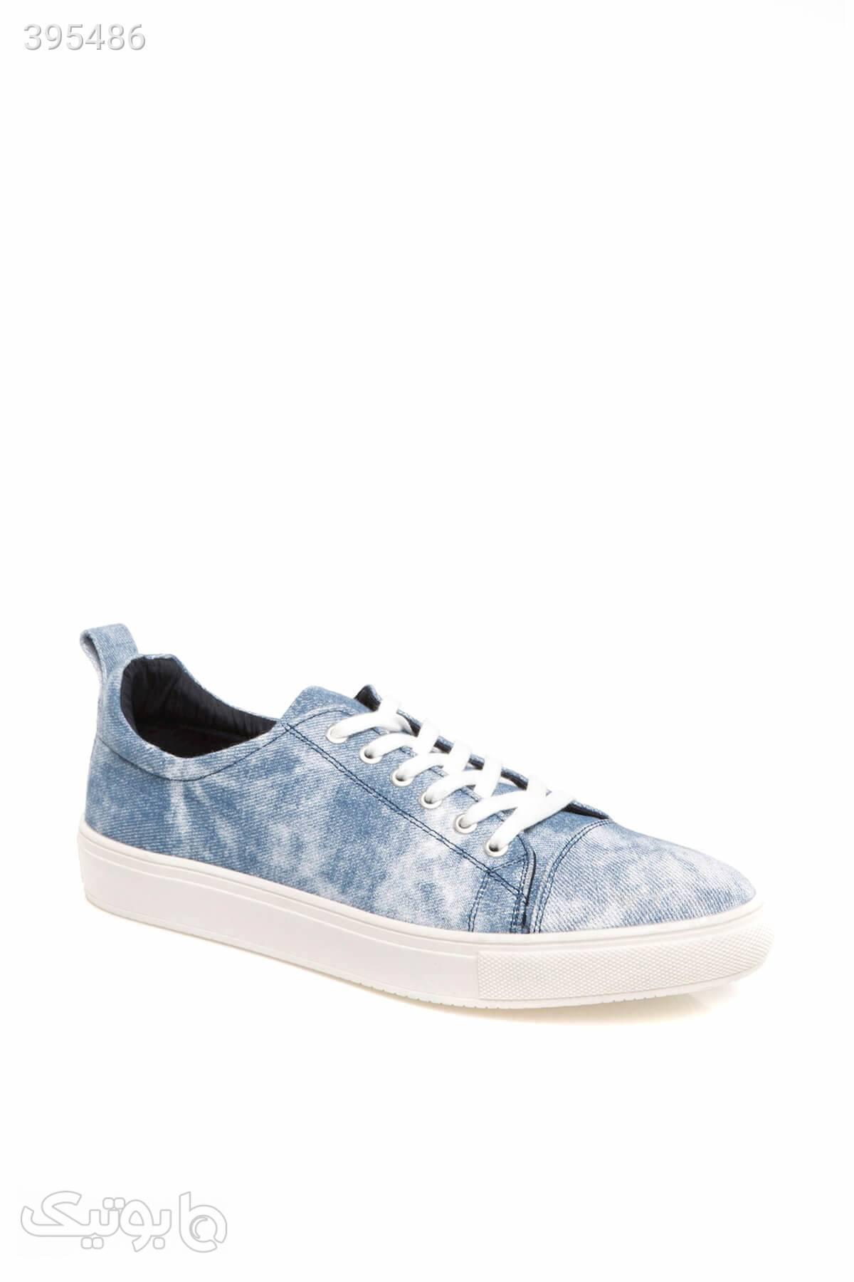 کفش پیاده روی اسپرت بند دار مردانه برند Defacto کد 158992496 آبی كتانی مردانه
