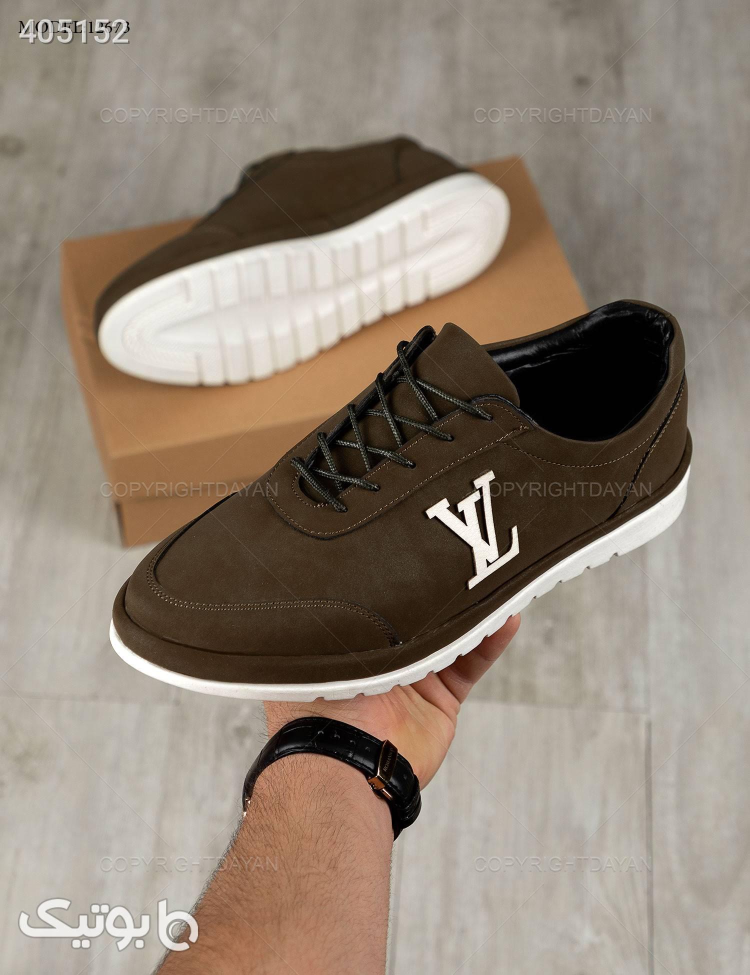 کفش Louis Vuitton مدل 12673 قهوه ای كتانی مردانه