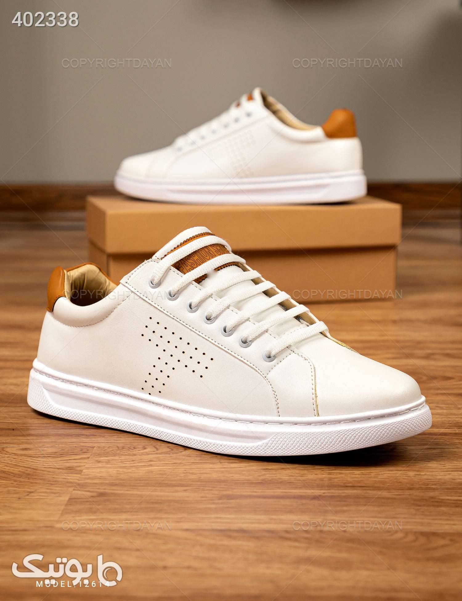 کفش Stark مدل 12614 سفید كتانی مردانه
