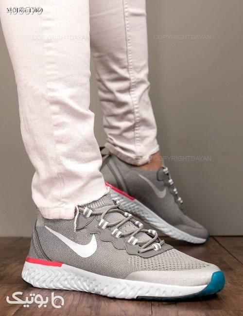 کفش مردانه Nike مدل 12460  نقره ای كتانی مردانه