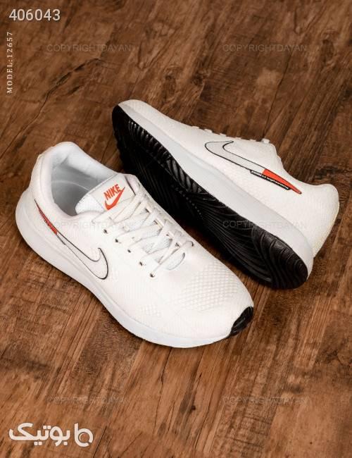 کفش مردانه Nike مدل 12657  سفید كتانی مردانه