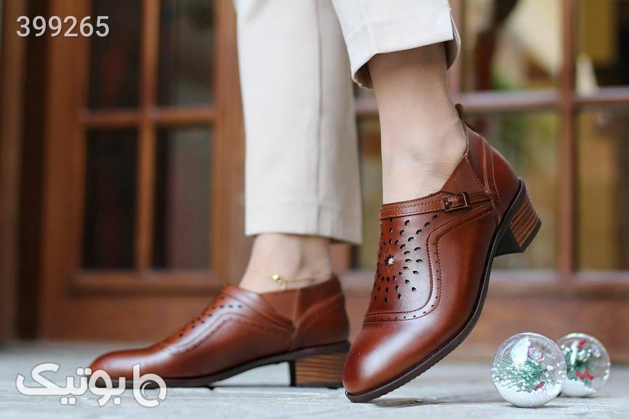 کفش چرم راحتی  مشکی كفش زنانه