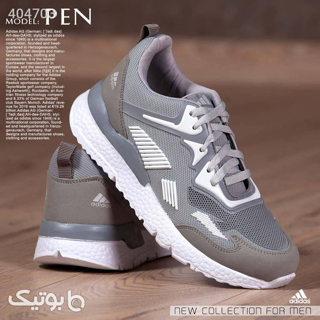 کفش مردانه Adidas مدل Pen نقره ای كفش مردانه