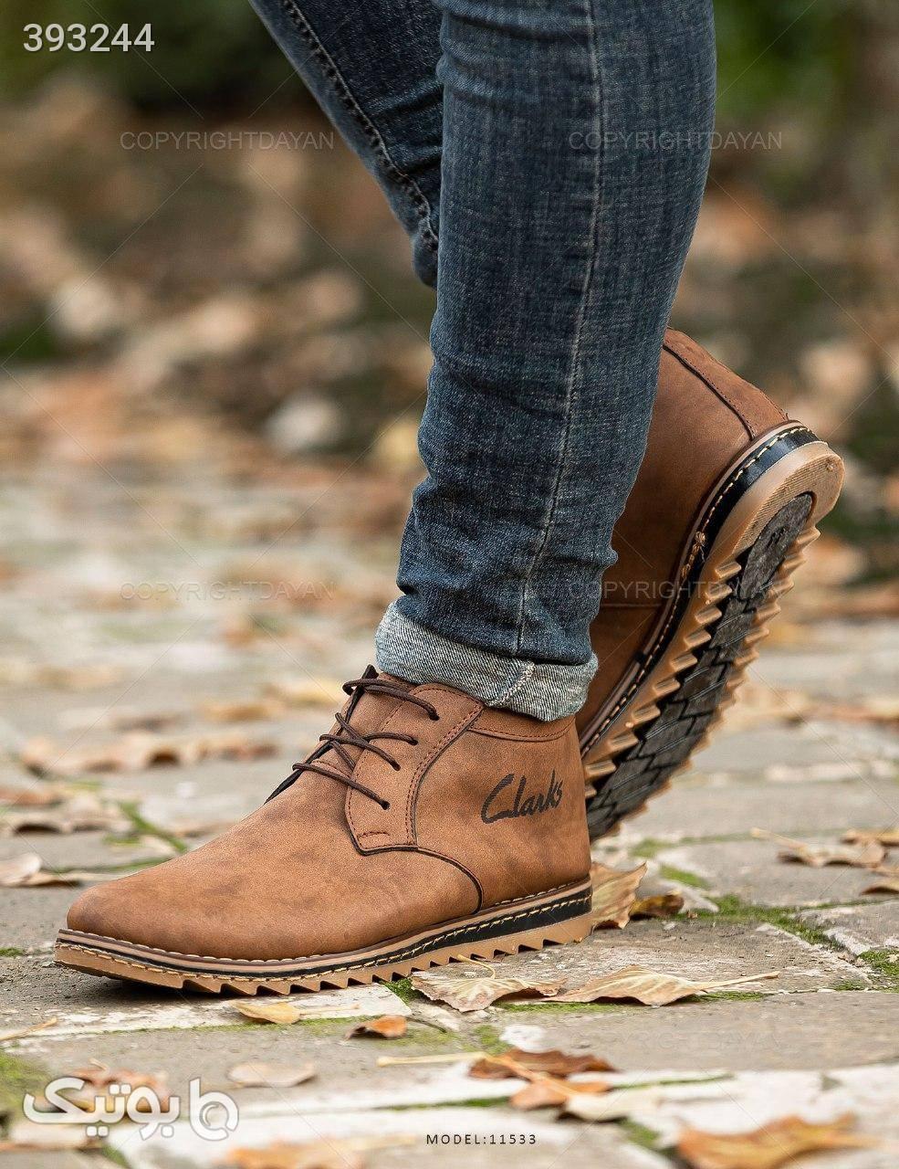 کفش مردانه Clarks مدل 11533 قهوه ای كفش مردانه